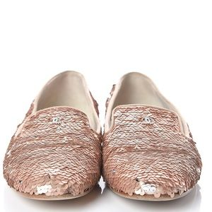 Chanel Rose Pink Sequin Shoes